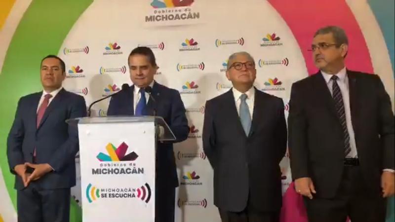 En rueda de prensa, Aureoles Conejo aseguró que Michoacán está haciendo su parte en torno a la situación financiera, por lo que ahora pide el apoyo de AMLO para superar los problemas económicos que se padecen desde hace varias décadas