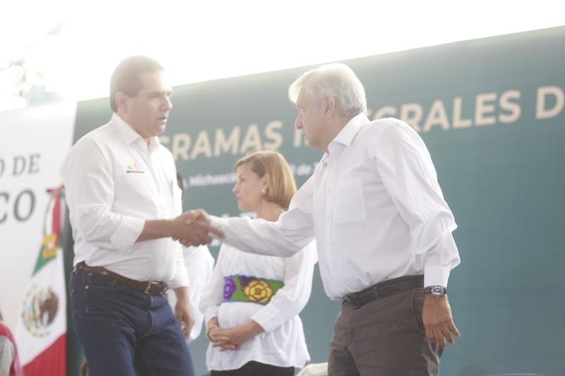 Aureoles Conejo reitera al presidente la voluntad y disposición del Gobierno de Michoacán, para trabajar y cooperar con la Federación