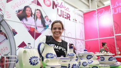 El stand se ubica en el Pabellón Michoacán y exhibe, para venta y difusión, los productos elaborados por diferentes emprendedoras de todo el Estado