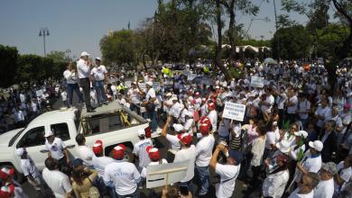Enrique Ramón Orozco recibió en sede delegacional a una representación gremial, luego de la marcha conmemorativa del Día del Trabajo