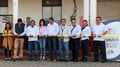 La plaza principal de la localidad fue el espacio donde se instaló un módulo atendido por un equipo de defensores públicos adscritos a la región Uruapan