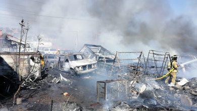 Una vez que la conflagración fue controlada se contabilizaron 2 motocicletas y 11 automóviles que resultaron calcinados