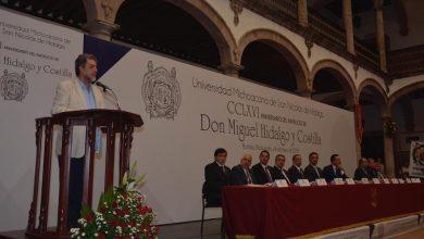 Luciano Concheiro Bórquez fue orador oficial en el acto de celebración por el CCLXVI aniversario del natalicio de Don Miguel Hidalgo