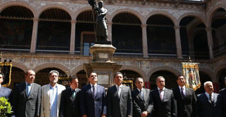 Aureoles Conejo se unió así a la celebración del natalicio del Padre de la Patria