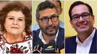Los suspirantes, María de la Luz Núñez, Víctor Báez, Víctor Serrato