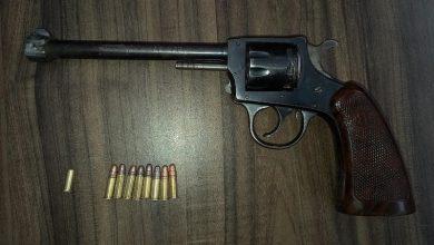 pistola, cartuchos, revólver