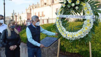 Cristóbal Arias Solís, ofrenda floral