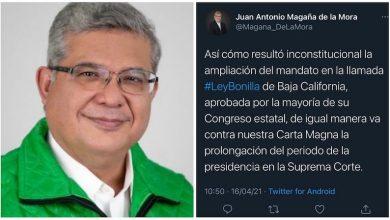 Juan Antonio Magaña de la Mora, tuit