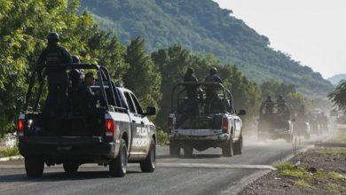Policía Michoacán, convoy